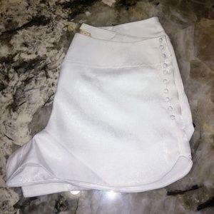 Dollskill white sateen shorts